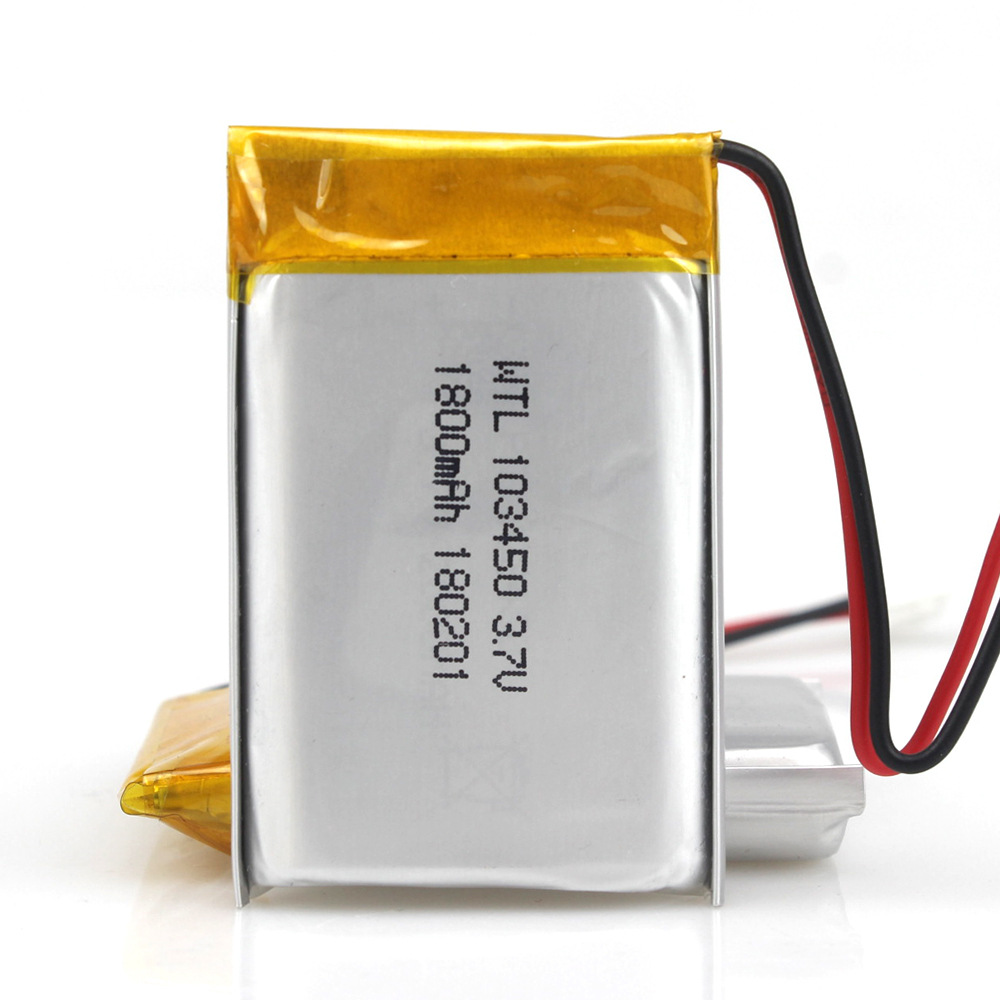 GTF <font><b>3.7V</b></font> <font><b>1800mAh</b></font> <font><b>battery</b></font> Lithium Polymer LiPo Rechargeable <font><b>Batteries</b></font> 103450 For Mp3 GPS PSP phone power bank electronic <font><b>Battery</b></font> image