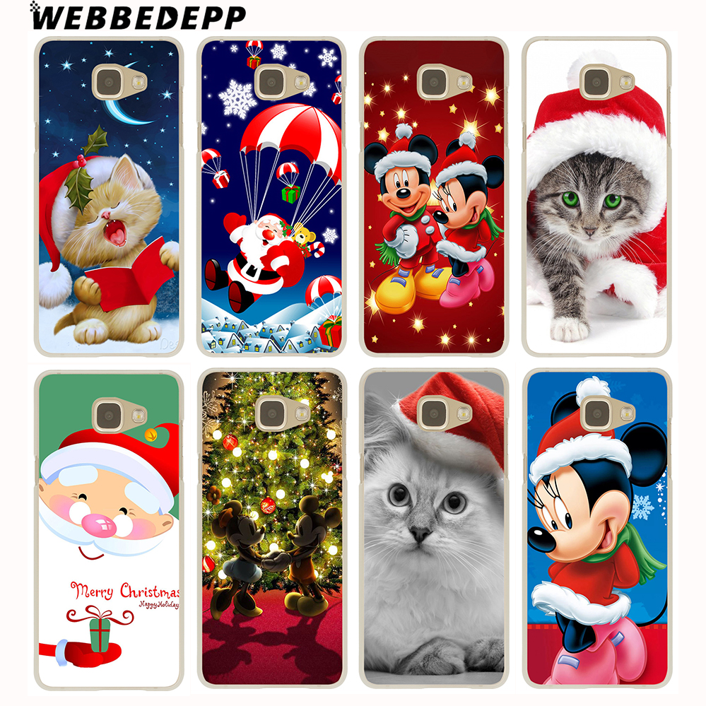 WEBBEDEPP Cartoon characters Christmas Case for Galaxy A3 A5 A7 A8 2015/2016/2017/2018 Grand Prime Note 8 5 4 3 2