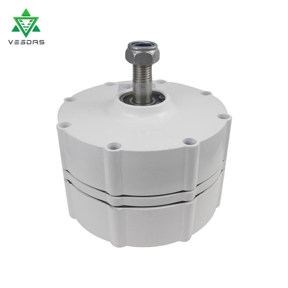 800W 500r/m 12/24V/48V Permanent Magnet Generator AC Alternator for Vertical Wind Turbine Generator