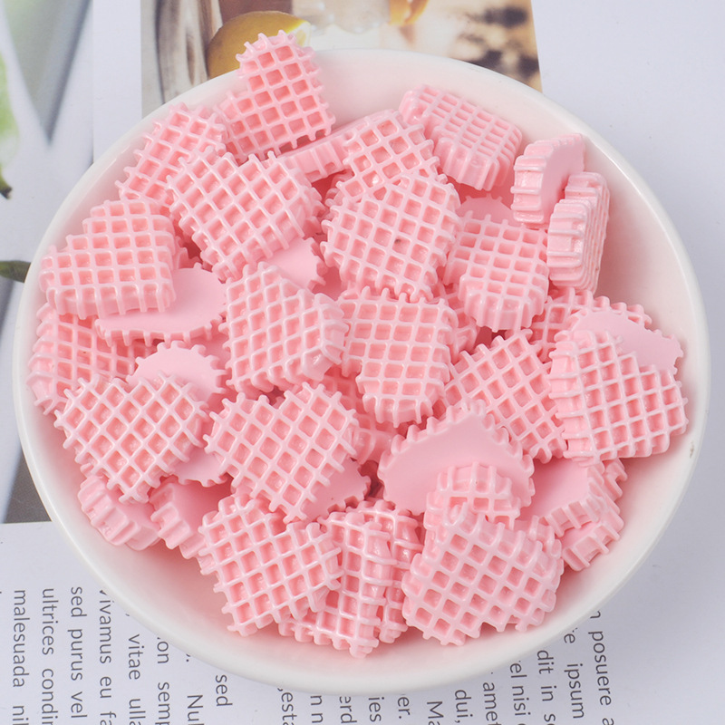 Happy Monkey 20pcs/pack Pretend Biscuits Slime Accessories Toys Resin DIY Mini Slime Supplies Filler For Fluffy Clear Slime