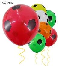 NASTASIA 10 шт./лот, шары в виде футбольных мячей, разноцветные, красные, желтые, белые, оранжевые, 12 дюймов, 2,8 г, вечерние украшения, детские игрушки