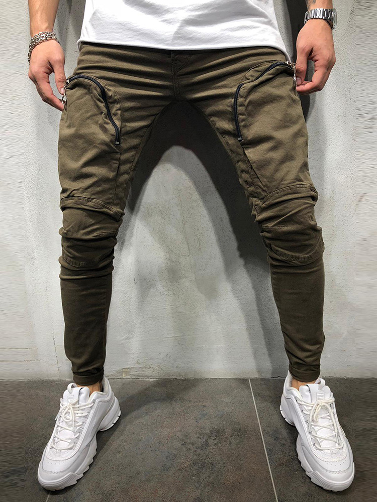 Men Pants Fashion Splicing Multi Pocket Harem Joggers Pants 2018 Male Trousers Elasticity Solid Pants Sweatpants Large Size