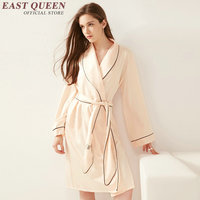 New Arrival bridesmaid robes pink home dress sexy ladies nightwear solid color long sleeve one piece pajama AA2268 YQ