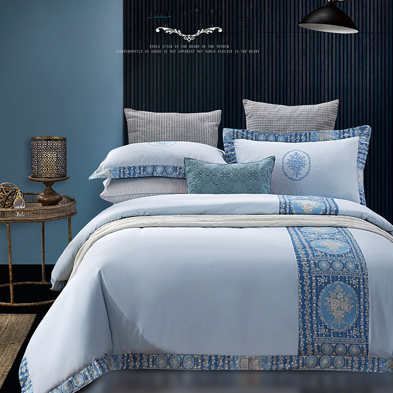 Hotel Collection King Size Quilts: Home Textile Hotel Bedding Set King Queen Size Embroidery