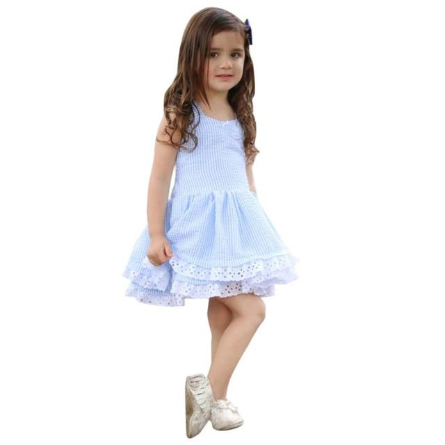 270606e75144 Summer Dress Girl s Clothes Stripe Lace Party Pageant Princess ...