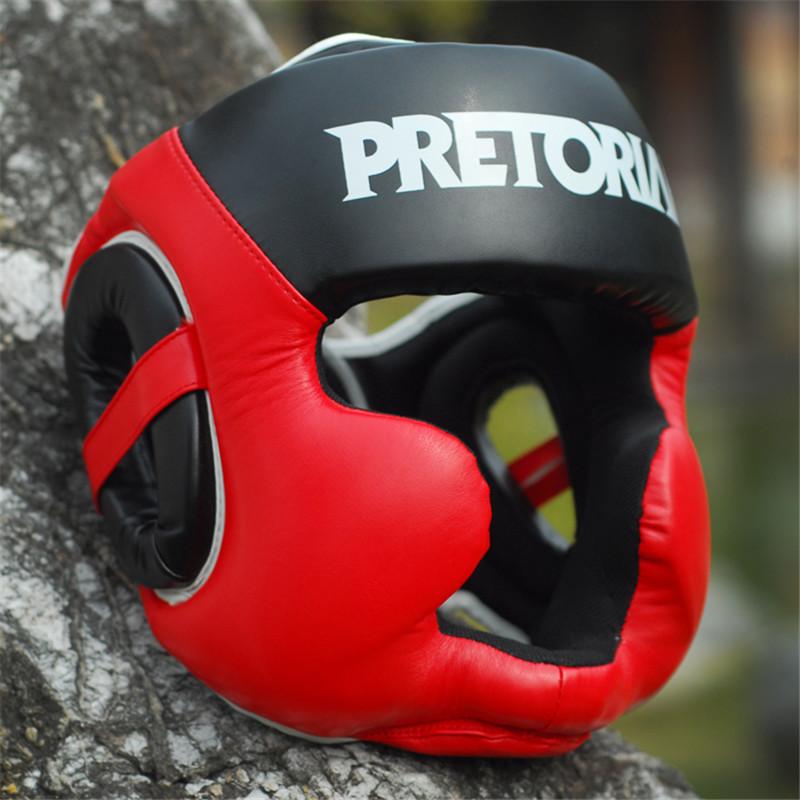 Prix pour 2 Couleurs MMA Muay Thai PRÉTORIENNE De Boxe Casque Coup Formation Sparring Dans MMA TKD Subvention D'achat D'appareils de Remise En Forme De Boxe Coiffures
