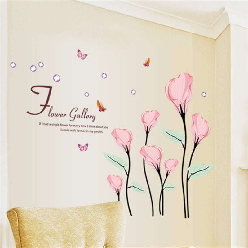 Buy gallery of flower wall decal living for Diy artwork for bedroom