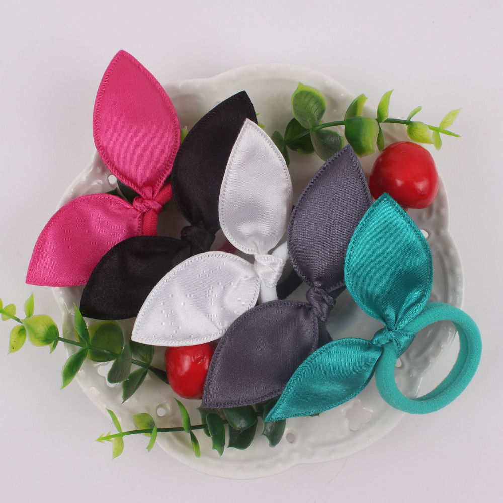 rabbit ears nylon rubber bands women hair accessories 1pcs