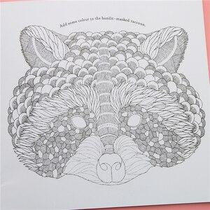 24 صفحات الحيوان المملكة الإنجليزية طبعة كتاب تلوين للأطفال الكبار تخفيف الإجهاد تقتل الوقت اللوحة دفتر رسم