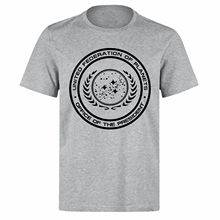UNITED HUMAN FEDERATION VALERIAN CITY OF A THOUSAND PLANETS PH161 GREY T-SHIRT T Shirt Men Tees Brand Clothing Funny