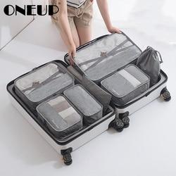 ONEUP 1 Set High-grade Suitcase Organizer Shoes Organizer Set Luggage Organizer Laundry Pouchs packing Set Travel Storage Bag