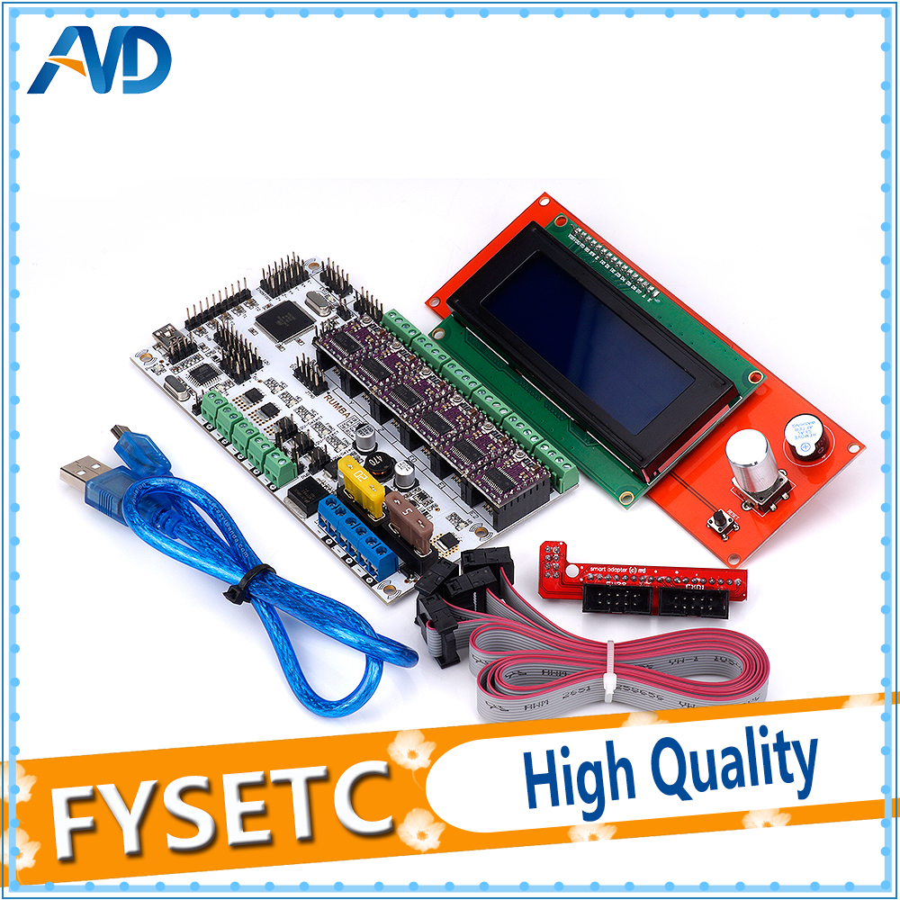 DRV8825 Stepper Driver 6pcs + 2004 LCD Display Screen + Rumba Plus Motherboard Upgrade Rumba+ RUMBA Optimized Version mofem rumba 150 0038 10 для раковины