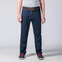 Plus Size Men S Jeans Dark Blue Denim Relaxed Trousers Male Clothing Large Big Size 40