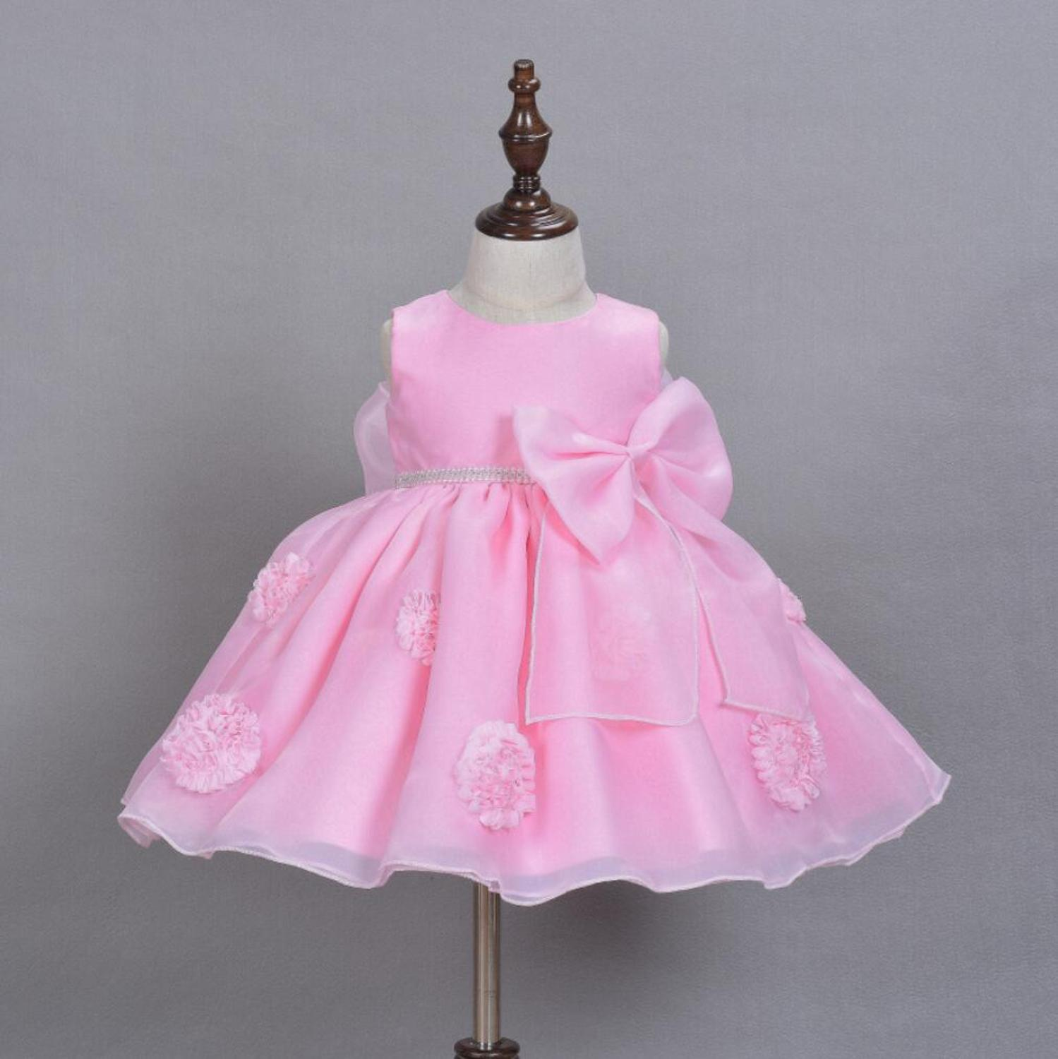 Xmas Toddler Kid Baby Girls Christmas Dress Pageant Princess Dresses+Headband GG