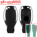 3 Buttons Remote Key For Mercedes Benz Smart Key (2005-2008) With NEC Chip 433MHZ With Logo