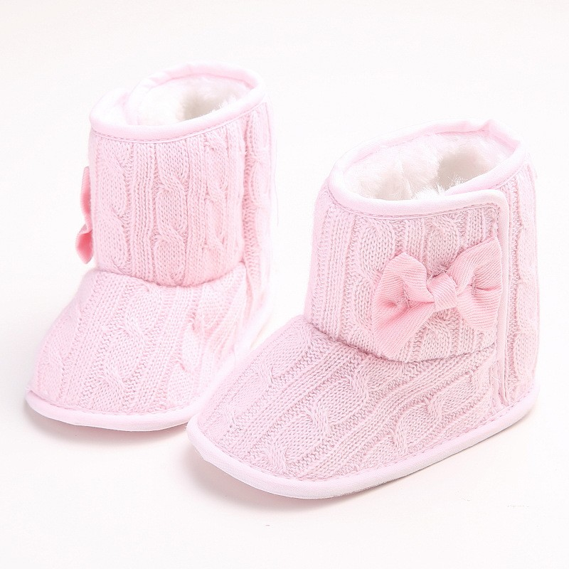 Best buy Winter Baby Warm Snow Boots Shoes Bebe Non slip Butterfly knot  Booties Baby Boy Girl Toddler Shoes Infant First Walkers Zapatos online  cheap d8c7b45ced50