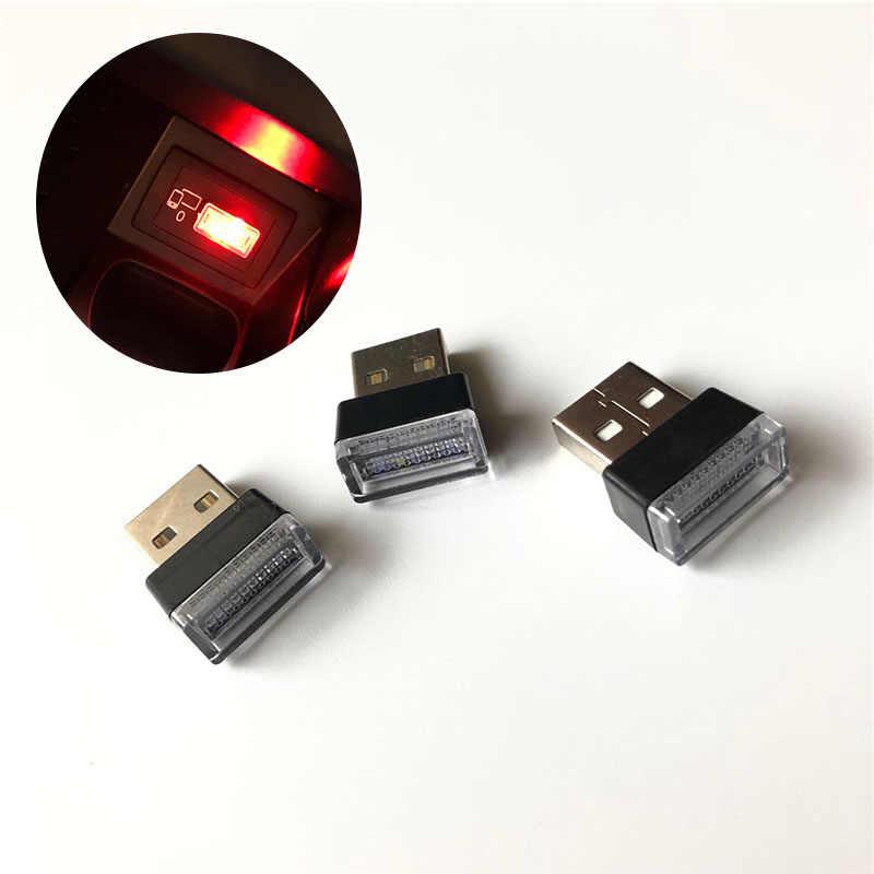 1 pcs سيارة التصميم USB جو مصباح ليد حالة ل ميتسوبيشي ASX أوتلاندر لانسر كولت تطور باجيرو الكسوف جرانديز فورتيس