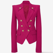 HIGH QUALITY Newest 2020 Designer Blazer Women's Collar Buttons Double Breasted