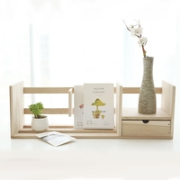 Creative Book Shelf Desk Organizer Wooden Book Holder Stand For Office