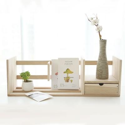 Kreatywny półka na książki organizer na biurko drewniane stojak na książkę stojak dla biura w Podpórki na książki od Artykuły biurowe i szkolne na  Grupa 1