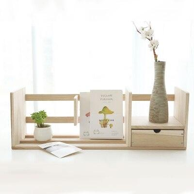Support de livre en bois créatif organisateur de bureau support de livre pour bureau