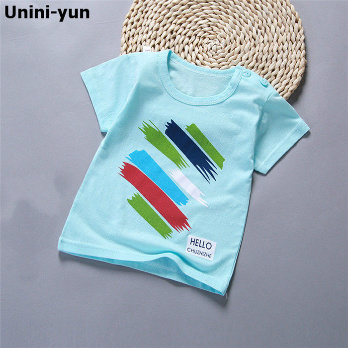 [New]6M-7T Baby Boy Solid T shrit Kids 100% Cotton T-shirts Short sleeve Children Boys Tops Sports Tee Shirts Summer Girls(China)
