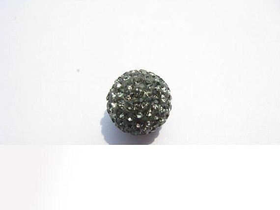 Gros perles grises 100 pièces 4-16mm Micro Pave argile cristal strass boule ronde clair blanc gris noir mixte perles breloque
