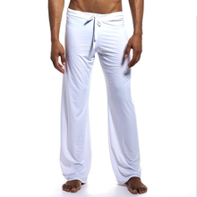 Mens Ice Silk Smooth Casual Lounge Pajama Loose Jogger Gym Workout Yoga Pants Drawstring Summer