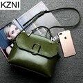 KZNI designer handbags high quality genuine leather women messenger bags bolsas femininas carteras mujer marcas famosas L121805