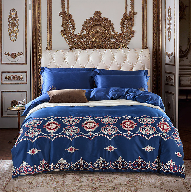 Bedding-Set Pillowcases-36 Oriental Luxury Duvet-Cover Quilt Embroidery Queen Cotton