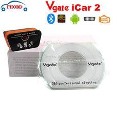 Vgate iCar2 icar 2 Bluetooth ELM327 OBD2 Scanner For Android Code Reader Diagnostic Tool Icar OBD Scanner Black-Orange Color