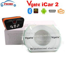 Vgate iCar2 Icar 2 ELM327 OBD2 escáner para Android Reader Tool código de diagnóstico Icar OBD escáner de Color naranja negro