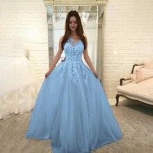 2019 blue dress Women Fashion Floral Lace Elegant dress Chif