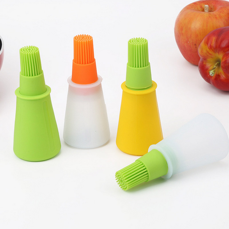 Portable Barbecue Oil Brush Silicone Baking Kitchen Oil Brush High Temperature Bakeware Tool Sale LXY9