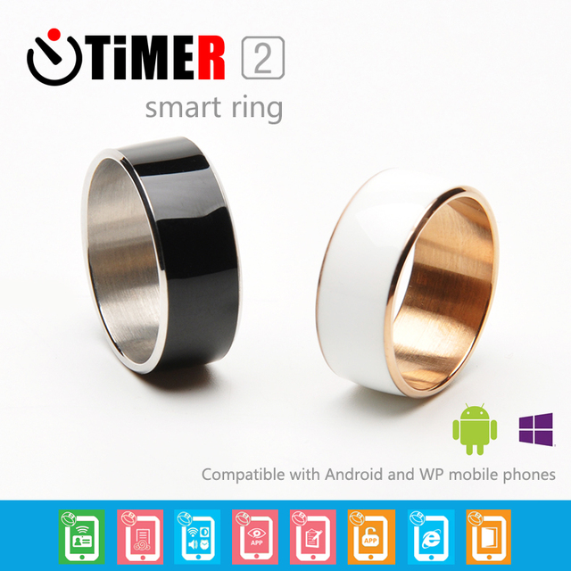 Black white Smart Rings Wear Jakcom new technology Magic jewelry For HTC Moto Nokia LG IOS Android WP Windows