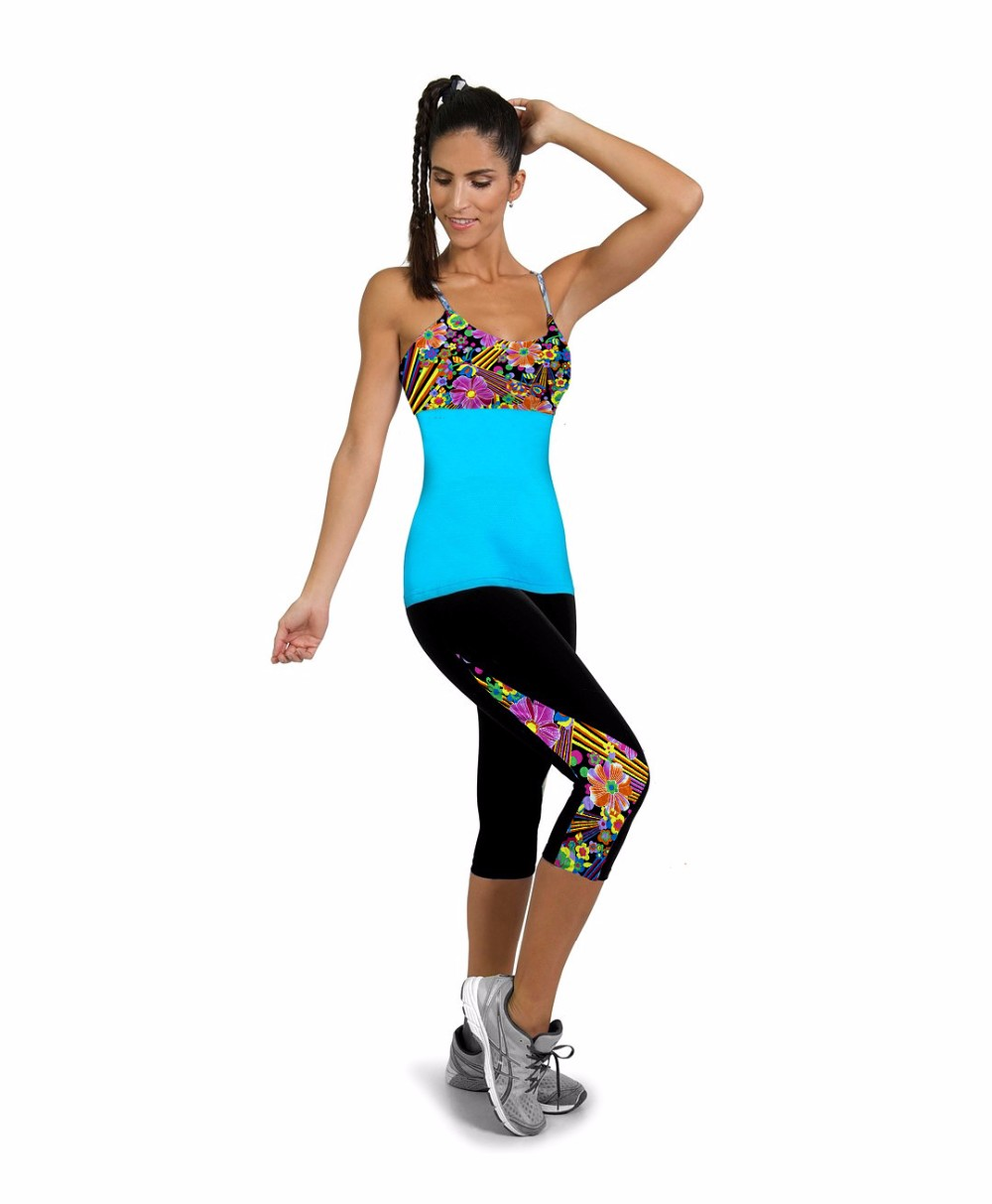 Women 3D Printed Spandex Capris Leggings