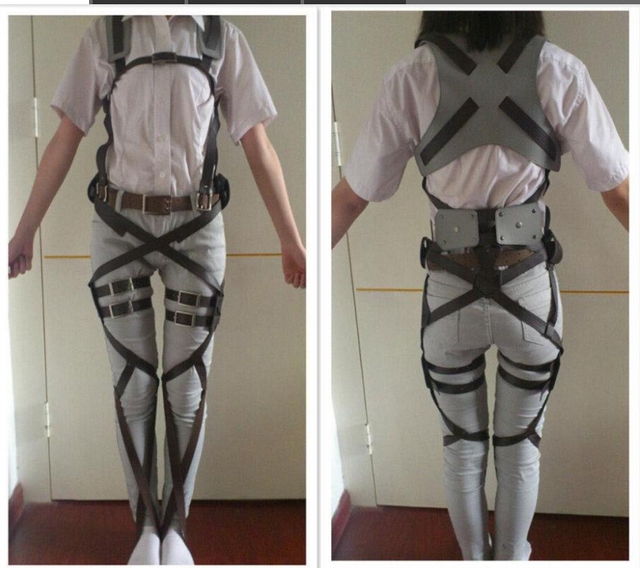 Attack on Titan Recon Corps Costume Harness Adjustable Belts