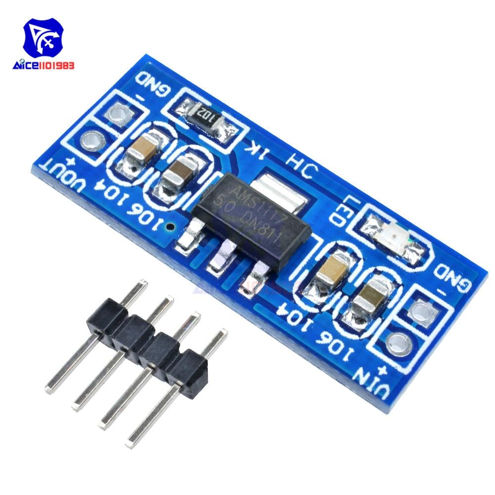 10PCS/Lot SMD AMS1117 DC-DC Step Down Buck Converter Power Supply Module DC 4.75-12V To 1.2V 1.5V 1.8V 2.5V 3.3V 5V For Arduino