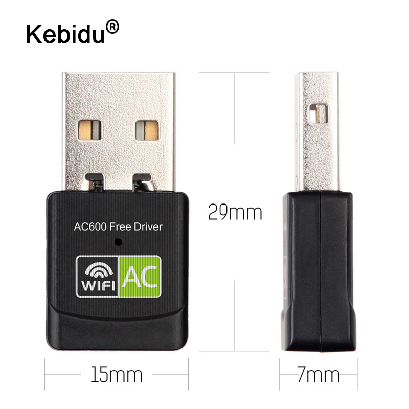 kebidu 600Mbps USB WiFi Adapter 2.4GHz 5GHz WiFi Antenna Dual Band 802.11b/n/g/ac Mini Wireless Computer Network Card Receiver(China)