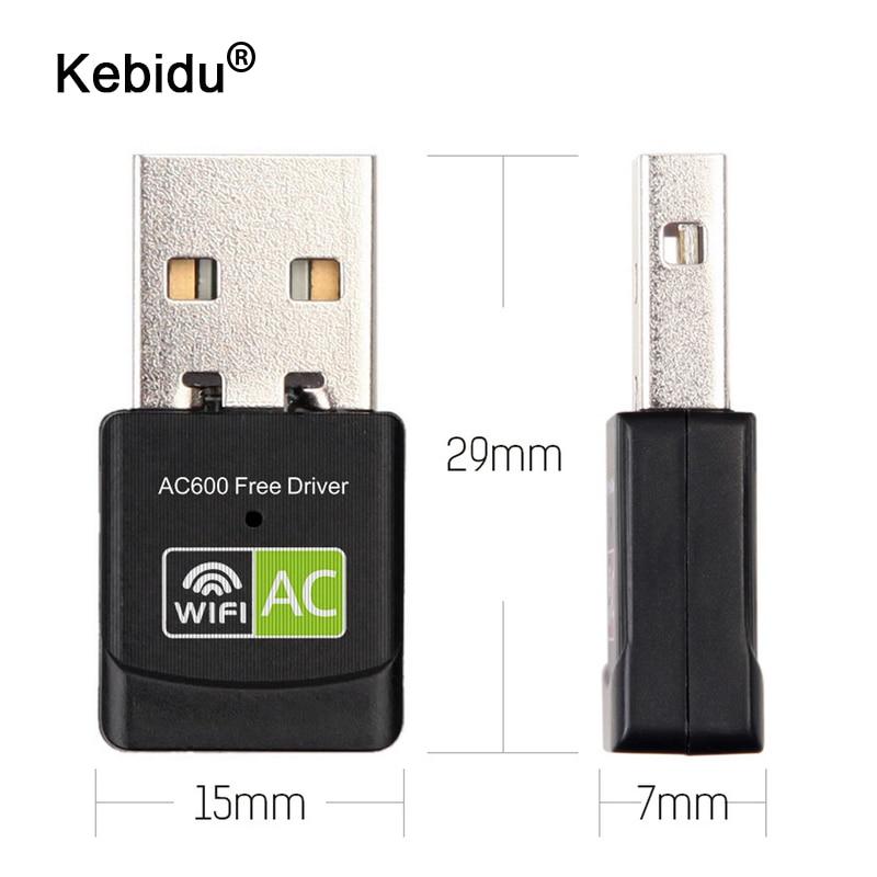 kebidu 600Mbps USB WiFi Adapter 2.4GHz 5GHz WiFi Antenna Dual Band 802.11b/n/g/ac Mini Wireless Computer Network Card Receiver(China)