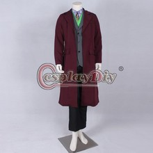 Cosplaydiy Free Shipping Customized The Dark Knight Rise Joker Cosplay Cosutme Movie Cosplay Costume