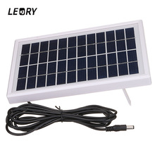 LEORY 3W 12V Polycrystalline Solar Panel DIY Solar Module System For Battery Charger DC12V Outputs