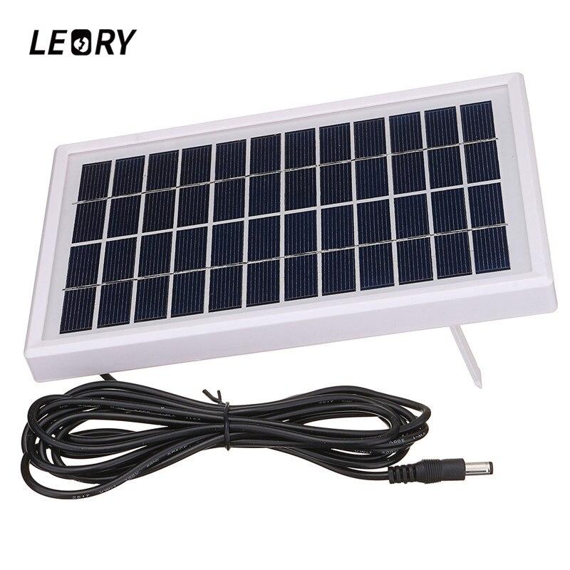 LEORY 3W 12V Polycrystalline Solar Panel DIY Solar Module System For Battery Charger DC12V Outputs