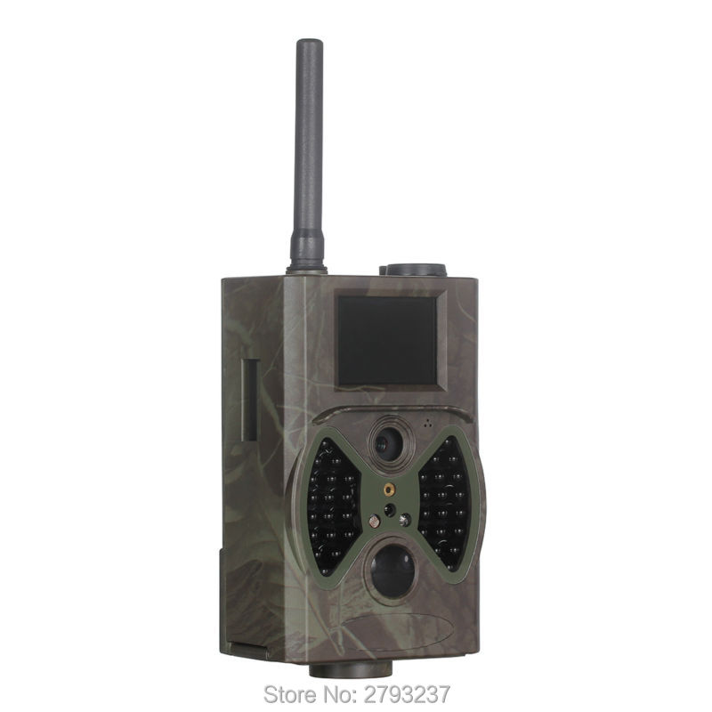 Trail camera 12MP IR night vision wildlife deer hunting camera HC 300M with 32GB memory transfer photos video by SMS MMS GSMTrail camera 12MP IR night vision wildlife deer hunting camera HC 300M with 32GB memory transfer photos video by SMS MMS GSM
