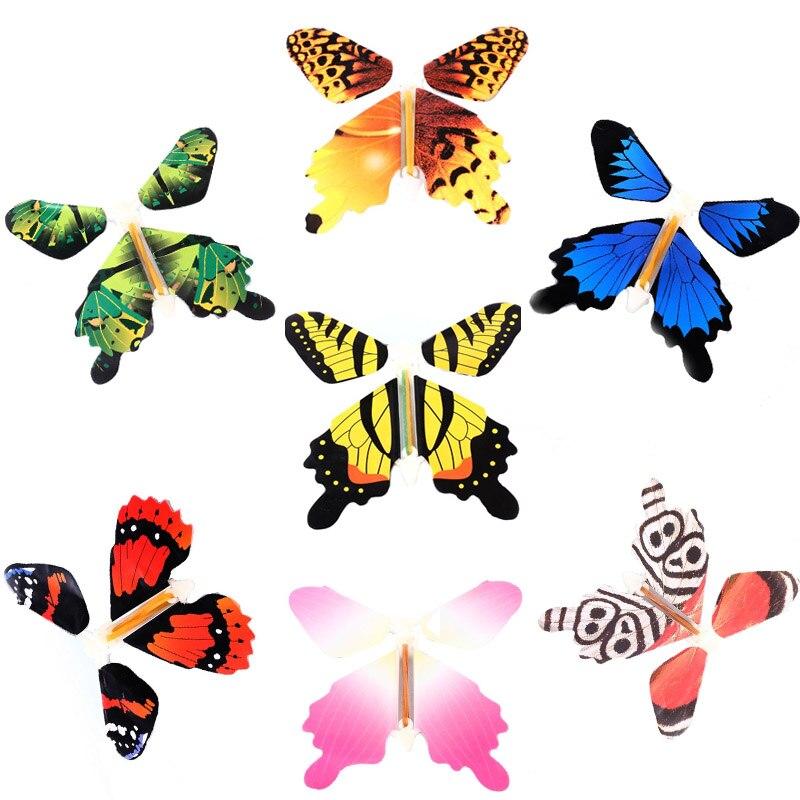 50 pcs/pack Magique Jouet Transformation Fly Papillon Accessoires Changement De Tour de Magie Mains Drôle Prank Blague Mystique Jouet Amusant Cadeau Surprise