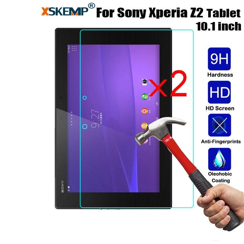 XSKEMP 2 Pcs/Lot Clair En Verre Trempé Pour Sony Xperia Tablet 10.1 Z2 SGP541/521 Anti-rayures Tablet PC LCD écran Protecteur Film