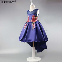 2017 Top Quality Princess Dress For Little Girl Long Dresses Sequins Ceremonies Wedding Gown Dress Flower