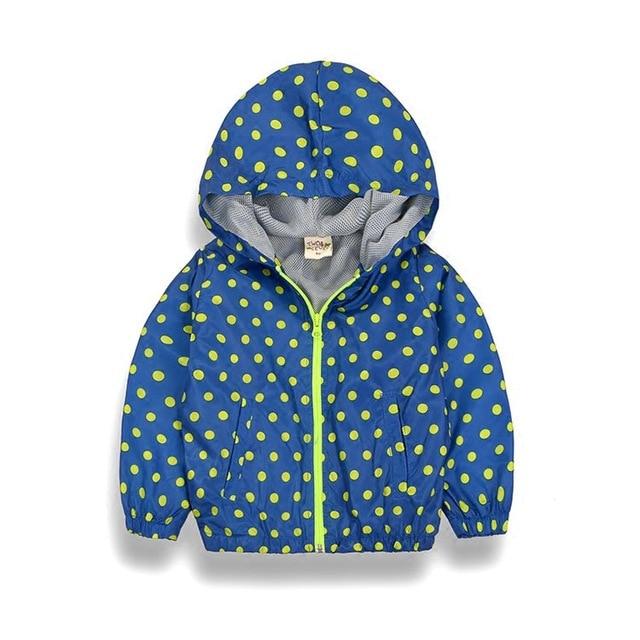 44825f6b53357 Y016 Nouvelle Dot Fille Garçons Veste Manteau Printemps Automne Coupe-Vent  À Capuche Pour Enfants
