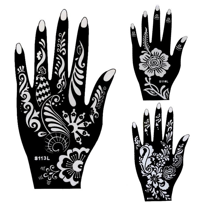 Temporary Tattoo Stencils Henna: Aliexpress.com : Buy 8pcs Large Mehndi Henna Tattoo