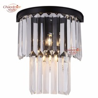 Odeon Vintage Retro Crystal Prism Wall Sconce Lamp Light Lighting Fixture for Home Living and Dining Room Hotel Restaurant Decor